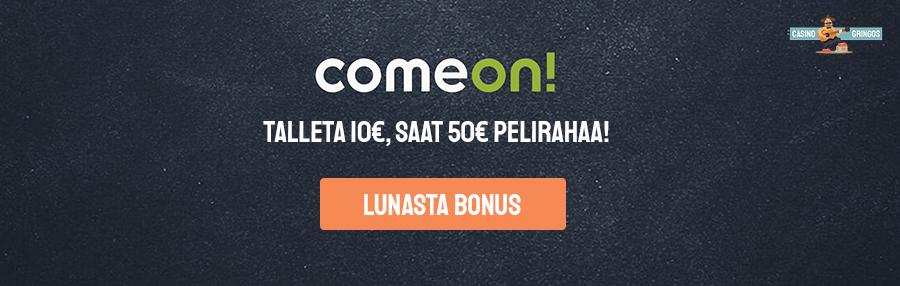Comeon vedonlyöntibonuksella saat yhteensä 50€ pelirahaa