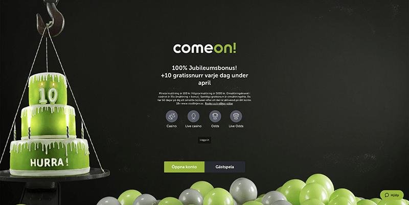 ComeOn Casino recension