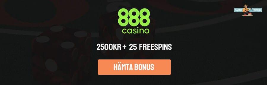 Välkomsbonus hos 888 casino