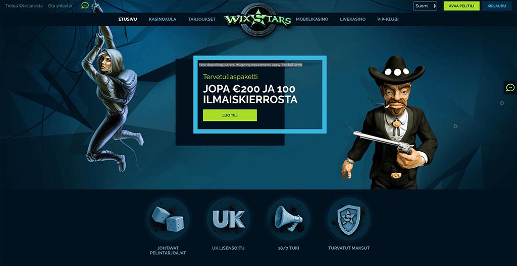 Wixstars Casino recension