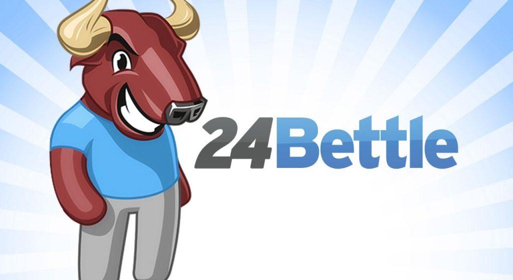 24bettle logo ja härkä-maskotti