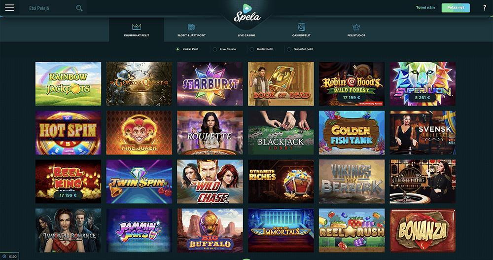 Spela casino ja kuumimmat kasinopelit