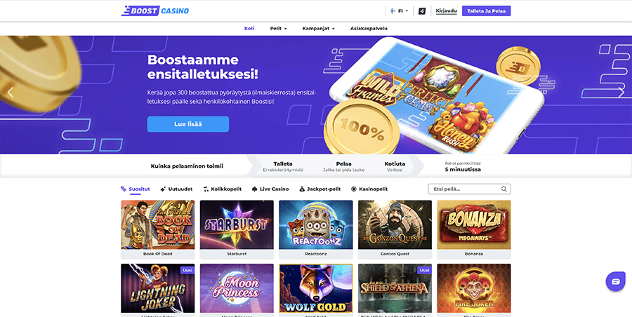 Boost Casino recension