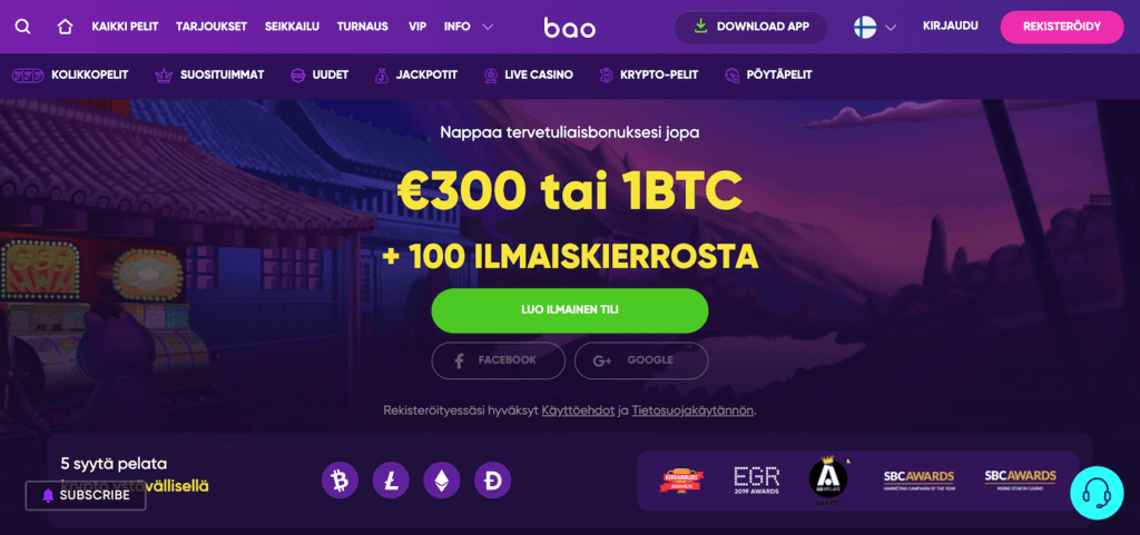 Bao Casino recension
