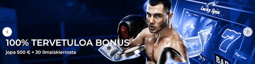 Bettilt casino bonus on sama kuin vedonlyöntibonus eli 100% aina 500€ saakka plus 30 ilmaiskierrosta