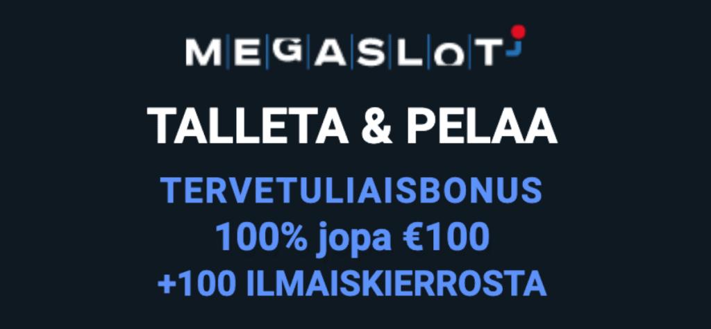 Megaslot kasino ilman rekisteröitymistä ja casinobonukset uusille suomalaisille pelaajille