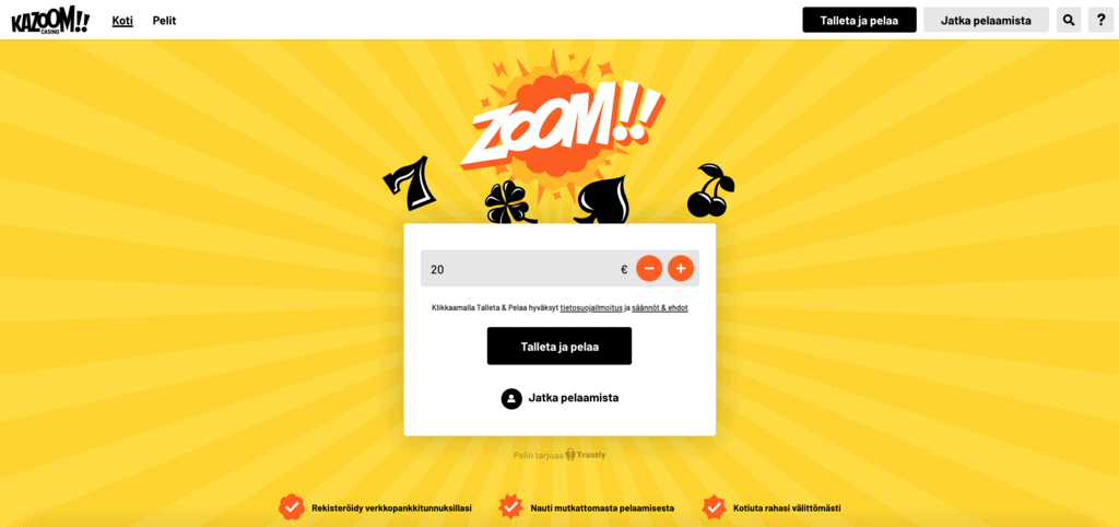 Kazoom Casino arvostelu
