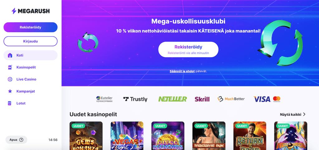 MegaRush casino recension