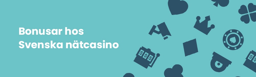 Casino bonus hos svenska nätcasino