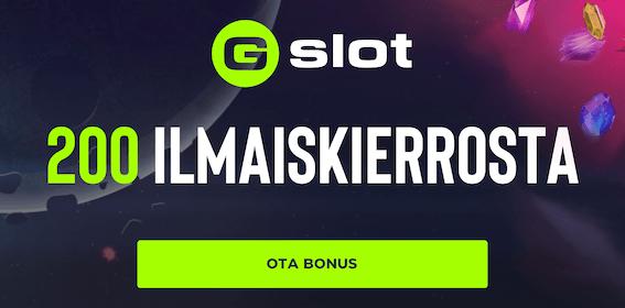 Gslot kasino tarjoaa ilmaiskierroksia uusille suomalaisille asiakkaille
