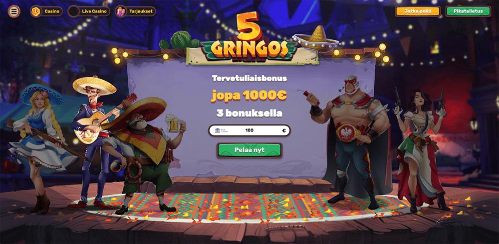 5Gringos Casino recension